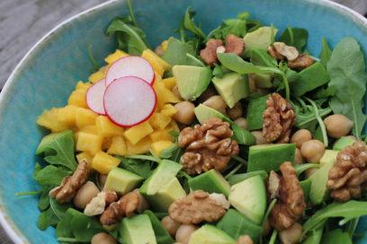 Salade met mango en radijs